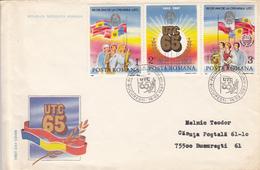 COMMUNIST YOUTH ORGANIZATION, COVER FDC, 1987, ROMANIA - FDC