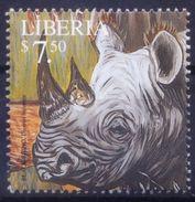 Liberia 2001 MNH, Black Rhino, Wild Animals - Rhinozerosse