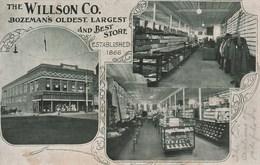 THE WILLSON CO. Bozeman's Oldest Largest And Best Store 792E - Etats-Unis