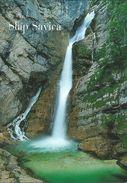 Slovenia Postcard - Waterfall Soča River - Eslovenia