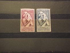 ITALIA REPUBBLICA - 1954 VESPUCCI 2 VALORI - NUOVI(++) - 1946-60: Mint/hinged