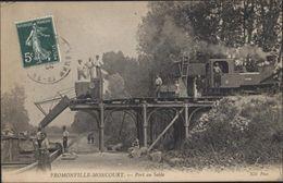 CPA Fromonville Moncourt Port Au Sable ND Phot Belle Animation Train Locomotive Bateau - France