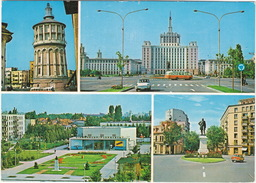 Bucuresti - Beffroi, Le Combinat Poligrafique, Cinemascop Floreasco, Statue M. Kögolniceanu  - (Roemenie) - Roemenië
