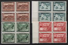 Austria 1945 Unif. 629A/32A Block Of 4 **/MNH VF - 1945-.... 2nd Republic