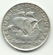 PORTUGAL - 5 ESCUDOS - SILVER - REPUBLICA PORTUGUESA - 1948 - UNC - NICE PRICE - Portugal