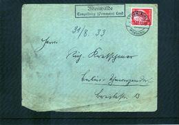 Deutschland Deutsches Reich 1933 Interessanten Brief - Deutschland