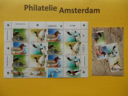 Israel 1989, BIRDS DUCKS: Mi 1131-34, + 1143-46, ** - KB - Vogels