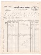 ANNEE 1884 / VOIRON / JACQUES DENANTES PERE ET FILS / TISSAGE DE TOILES / DE VOIRON TOUT CHANVRE / - Textile & Vestimentaire