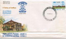 SRI LANKA -  1995 The 100th Anniversary Of St. Joseph's College, Colombo   FDC3259 - Sri Lanka (Ceylon) (1948-...)