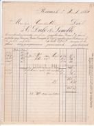 ANNEE 1884 / REIMS / DUBE ET LENOBLE / CHALES ET LINGE - Textile & Vestimentaire