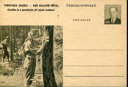 29588 Ceskoslovensko,  Stationery Card 30h. Scouts Exploration - Scouting