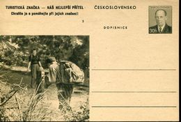 29589 Ceskoslovensko,  Stationery Card 30h. Scouts Exploration - Scouting