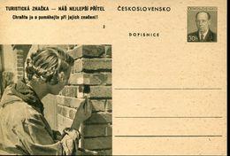 29590 Ceskoslovensko,  Stationery Card 30h. Scouts Exploration - Scouting