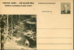 29591 Ceskoslovensko,  Stationery Card 30h. Scouts Exploration - Scouting