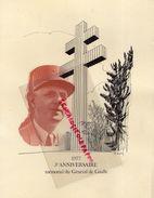 GENERAL DE GAULLE-1977- CARTONNAGE 5 E ANNIVERSAIRE MEMORIAL - - Historical Documents