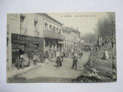 "ALGERIE  -  MEDEA  -  RUE DE L'HOTEL DE VILLE    -  EPICERIE "" A LA PREFERENCE ""        TRES   ANIME    TTB - Medea"