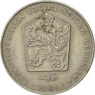 Tchécoslovaquie, 2 Koruny, 1981, TTB, Copper-nickel, KM:75 - Czechoslovakia
