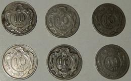 AUSTRIA – 10 HELLER – 1893 – 1895 – 1907 – 6 MONETE – (134) - Austria