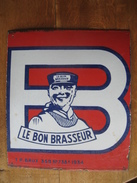 """Partie D'une Plaque émaillée De 1934 Brasserie PIEDBOEUF """"LE BON BRASSEUR"""" - Liquor & Beer"""