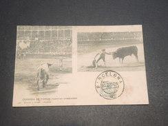 ESPAGNE - Oblitération De Barcelone Sur Carte De Corrida En 1906 -  L 11620 - Cartas