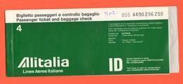 ALITALIA Airlines Avion Flight Aerei Carta D'imbarco Volo Roma > Venezia > Roma 1978 - Europe