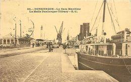 Réf : A-18 Pie Tre-3243 : DUNKERQUE. GARE MARITIME. LA MALLE DUNKERQUE TILBURY - Dunkerque