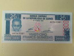 25 Francs 1960 - Guinea