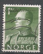 Norway 1959. Scott #370 (U) King Olav V, Roi - Norvège