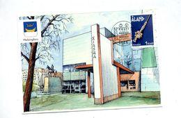 Carte Cachet Exposition 2002 Helsingfors Sur Bijou Vue Hall - Aland