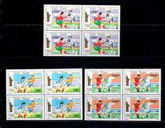 Blocks 4 Of Vietnam Viet Nam MNH Perf Stamps 1993 : World Cup Football In USA / Liberty Statue (Ms663) - Vietnam