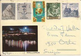MALLORCA (Espana) - CARTE Avec TIMBRE - Vers La SWITZERLAND - 28 Janvier 1987 - Postales