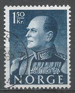 Norway 1959. Scott #371 (U) King Olav V, Roi - Norvège