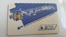 TELECARTE ANDORRE AND 10 50UT UTILISEE STA N°2 LES TELECOMMUNICATIONS - Andorre