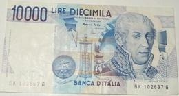 BANCONOTA 10000 LIRE – A.VOLTA – 03/09/1984 – SERIE BK – (E) - [ 2] 1946-… : Républic