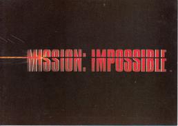 Belgium, Mission Impossible, 4 Cards, NEW (X06573) - Cinema