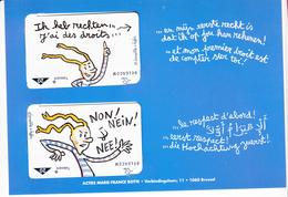 Jongerenrechten, Botte, 4 Cards, NEW (X05750) - Belgium