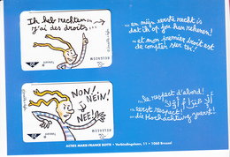 Jongerenrechten, Botte, 4 Cards, NEW (X05750) - Belgien