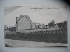 Clairizet 51 La Mairie Et L'ecole - Altri Comuni