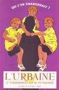 Buvard L'Urbaine Cie D'assurances Su La Vie Humaine ( 21 X 13,5 Cm ) - Blotters