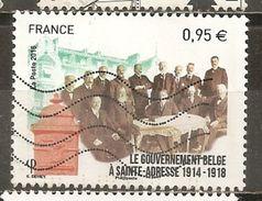 France 2015 WW1 Le Governement Belgique Obl - Frankrijk