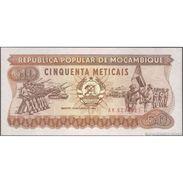 TWN - MOZAMBIQUE 129b - 50 Meticais 16.6.1986 Prefix AK UNC - Mozambico