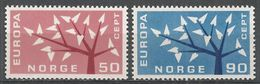 Norway 1962. Scott #414-5 (M) Europa (Tree) - Neufs
