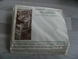 Lot De 10 Aix En Othe Enveloppe Numerotee  Illustree Journee Du Timbre 1946 - 1921-1960: Période Moderne