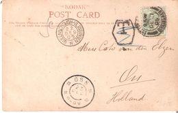 """CP. De1905 De BIRMINGHAM à OSS(Pays-Bas) + MARITIME QUEENSBOROUGH-VLISSINGEN . TB """"T"""" Biffé - 1902-1951 (Koningen)"""