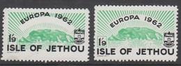 Guernsey Jethou -1962 Europa 1/9 Massive Black SHIFT - Unmounted Mint NHM - Guernesey