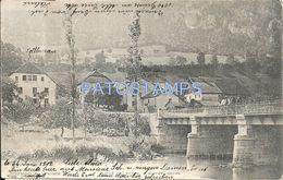 84592 FRANCE GOUMOIS MAICHE DOUBS VIEW PARTIAL & BRIDGE CIRCULATED TO SWITZERLAND POSTAL POSTCARD - Non Classés