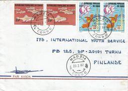 Congo 1987 Madzia Fish Rural Telecommunication Cover - Congo - Brazzaville