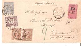 EP. Enveloppe 5c. AMSTERDAM 11 MEI 95 En RECOMMANDE V/DRESDEN Allemagne) - Postal Stationery