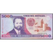 TWN - MOZAMBIQUE 136 - 5000 5.000 Meticais 16.6.1991 Prefix CB UNC - Mozambico