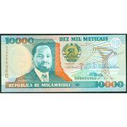 TWN - MOZAMBIQUE 137 - 10000 10.000 Meticais 16.6.1991 Low Serial 000XXXX - Prefix DA UNC - Mozambico